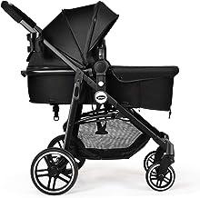Best INFANS 2 in 1 Baby Stroller, High Landscape Infant Stroller & Reversible Bassinet Pram, Foldable Pushchair with Adjustable Canopy, Storage Basket, Cup Holder, Suspension Wheels (Black) Review