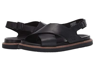 KEEN Lana Cross Strap Sandal (Black/Black) Women