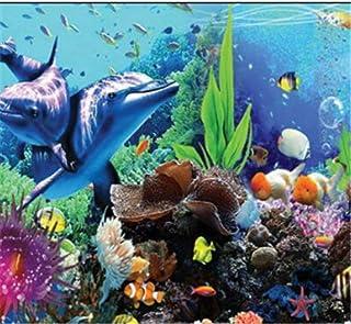 Newberli Custom Art Mural Wallpaper Photo Diy 3D Alta Calidad Estéreo Tropical Fish Aquarium Wallpaper Decoración Del Hogar