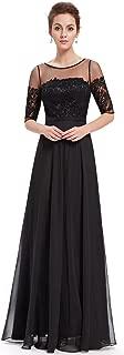 Ever-Pretty Womens Floor Length Three-Quarter Sleeve Evening Dress 08459