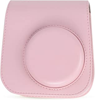 Eulbevoli Étui pour Appareil Photo Sac en Cuir PU, pour Appareil Photo Fujifilm Instax Mini 11(Pink)