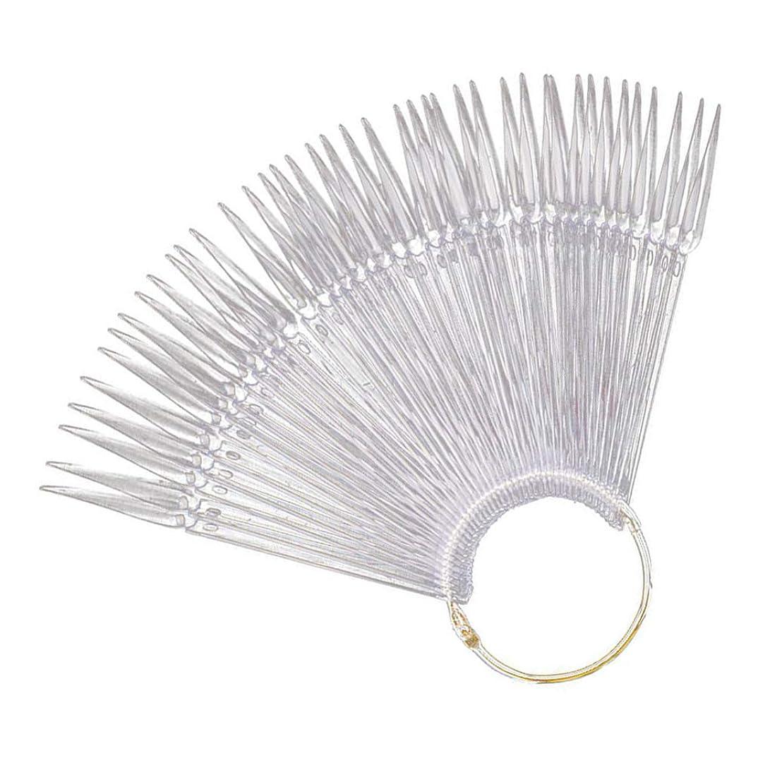 インゲン彼女はコジオスコMinkissy Nail Art Tips Sticks Nail Color Plates Fan Shaped Display Swatches Manicure Palette Card Nail Art Supplies 100pcs (Transparent)