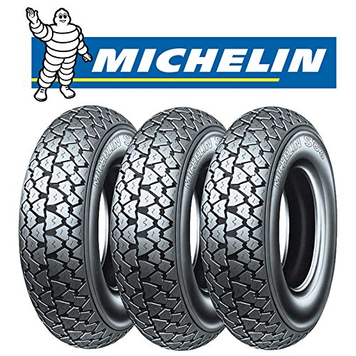 Michelin - S83 - Lot de 3 pneus, taille 3.00 - 10 42J, pour Vespa 50 Special