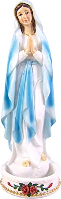 Our Lady of Grace 8 Inch Resin Rosary Relic Holder Madonna Figurine Statue