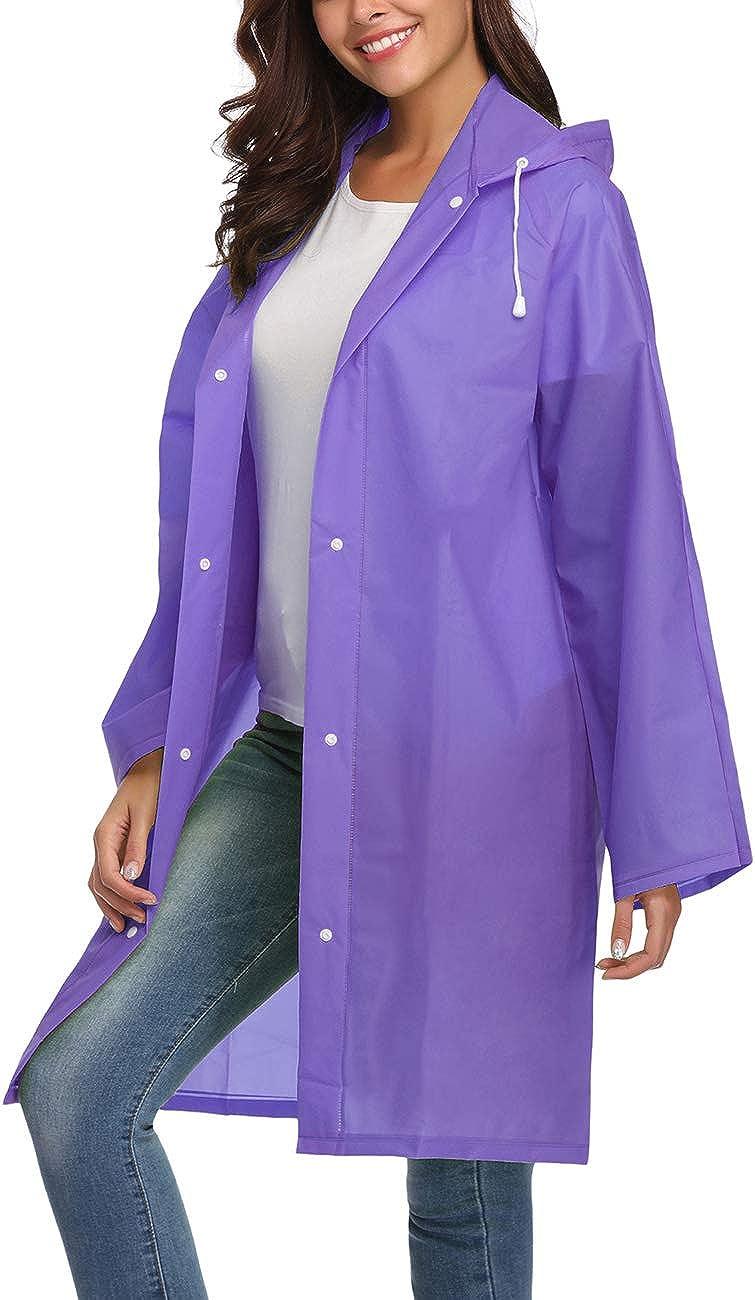 Avoogue EVA Raincoat Waterproof Rain Poncho Rain Jacket Women Long Rain Cape