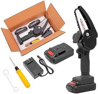 Minichainsaw, 10 cm elektrisk kedja, batteri elektrisk sladd, trådlös hand mini kladd blad kedja för klippräd, träskärnin...