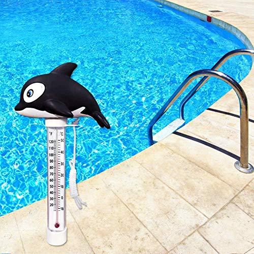 Poolthermometer schwimmend, bruchsicher, Thermometer Teichwasserthermometer für Indoor-Outdoor-Spas, Whirlpools, Whirlpools, Aquarien und Teiche , Schwimmbäder,