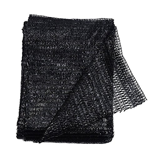 40% Black 6.5'x10' Sun Mesh Shade Sunblock Shade UV Resistant Net for Garden Flower Plant