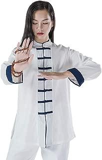 KSUA Womens Martial Arts Uniform Tai Chi Suit Chinese Kung Fu Clothing Cotton Wing Chun Clothes Zen Meditation