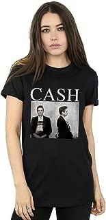 Johnny Cash Women's Mug Shots Boyfriend Fit T-Shirt