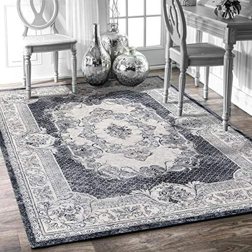 Leesentec Area Rug Modern Rugs Home Carpets Room Rug Washable Printed Rug Mats Rectangular Size Soft Touch for Home Kitchen Living Room Bedroom (160*200cm)