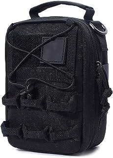 CheerlueY Mochila al Aire Libre Mochila Impermeable Viajes Mochilas de Tela Oxford Kits de Camping Bolsa de Escalada Kits de Estuche de Emergencia Negro Mochila Militar