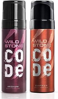 Wild Stone Code Copper and Iridium Body Perfume Combo for Men, Pack of 2 (120ml each)