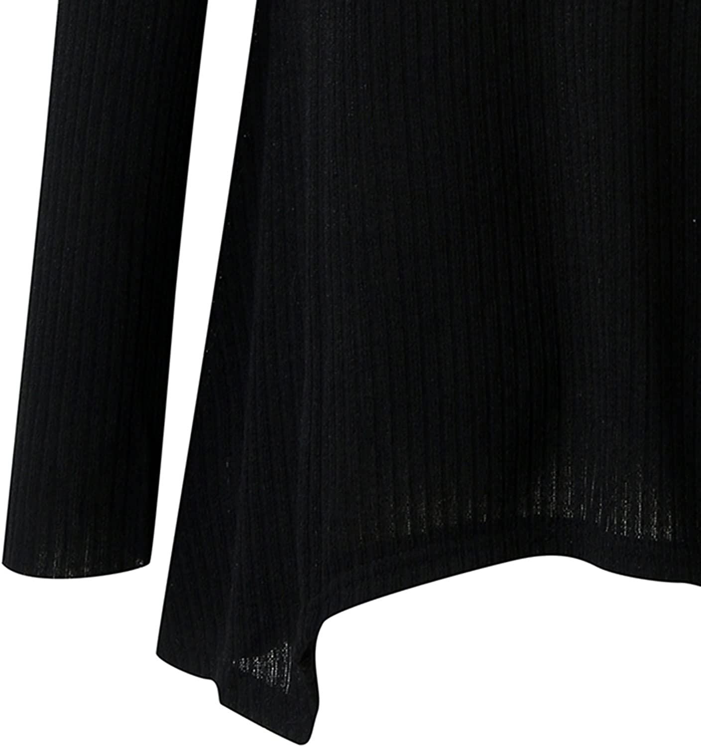 Women's Batwing Sleeve Ribbed Knit Asymmetrical Sweaters Oversized Solid Color V-Neck Pullover Tops