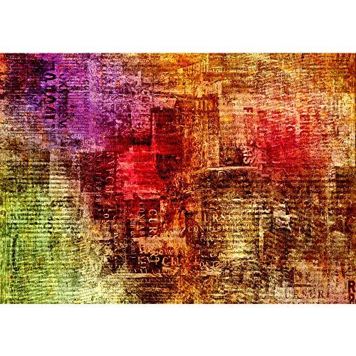 Vlies Fototapete 400x280 cm PREMIUM PLUS Wand Foto Tapete Wand Bild Vliestapete - GRUNGE ABSTRACT NEWSPAPER - Zeitungsausschnitte alt abstrakt Zeitung - no. 056