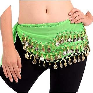 Belly Dance Costume Hip Belt 128 Coins Belly Dancing Waist Scarf Skirt