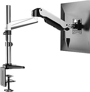 HUANUO Soporte de Monitor de Aluminio Ajustable en Altura, Brazo Giratorio de Resorte de Gas 360 ° para Pantalla de 13 a 3...