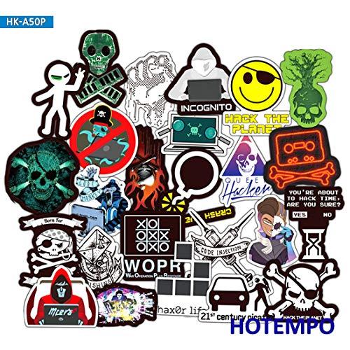 Hackers Graffiti Stickers Programmeren Internet Software Geek Voor Mobiele Telefoon Laptop Bagage Skateboard Sticker 50 stks
