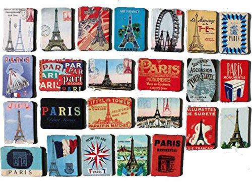 MISWEE 24-pcs magnetic fridge magnets refrigerator sticker home decoration accessories magnet paste arts crafts (Paris)