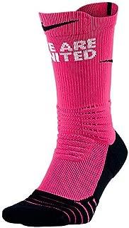 Nike Men's Elite Versatility Kay Yow Crew Basketball Socks Pink/Black Large Size 8-12