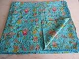 Tribal Asian Textiles Colcha Kantha de cachemira, multicolor con estampado de cachemira, tamaño King Kantha, colcha Kantha, colcha Kantha, tamaño bohemio 21