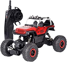 JPJ(TM)1pcs Kids Hot Fashion Remote Control Car RC Electric High Speed Off-Road Truck Children Gift 1:18 (Red)