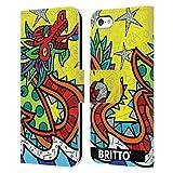 Head Case Designs sous Licence Officielle Britto Chance Illustrations Abstractes 2 Coque en Cuir à...