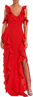 Forever Unique Casual Pleated Dress For Women - Red 14 UK
