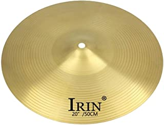 SGerste Brass Alloy Drum Set Crash Hi-Hat Cymbals for Drum Player Percussion Instrument Parts - Golden, 20inch