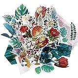FLOFIA 120pcs Adesivi Stickers per Scrapbooking Album Fai da Te Diario Libri a Mano Regalo Biglietti d'Auguri Calendari Adesivi Piante Fiore Fenicottero Fungo Decalcomanie Decorativi