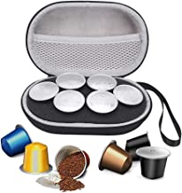 Esimen Hard Carrying Case for Nespresso & Compatible Capsules Portable Espresso Maker Coffee Pod Holder Carry Protective Bag (Holds 6 Pods)