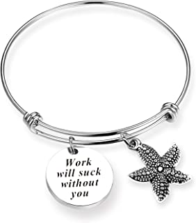 ZNTINA Coworker Leaving Gifts Retirement Jewelry Going Away Bracelet Colleague Boss Goodbye Farewell Gifts for Friend