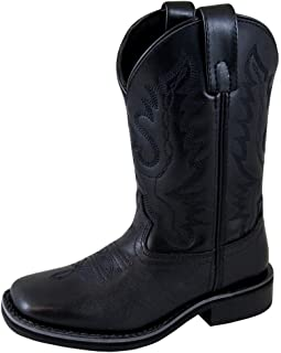 Smoky Mountain Boys' Outlaw Leather Cowboy Boot Square Toe