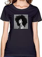 HERE Blended Family Crew Neck T-Shirt Black for Women