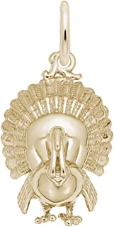 10k Yellow Gold Turkey Charm, Charms for Bracelets and Necklaces