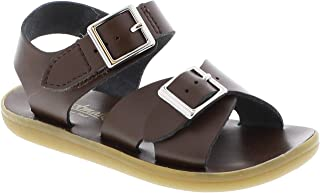 FOOTMATES Boy's Tide Hook-and-Loop and Buckle Sandal Taffy - 1004