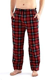 Harvey James Checked Trousers Pyjamas Nightwear Lounge Fleece Pants (RED Check, XXL)