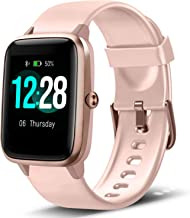 LETSCOM Smart Watch Fitness Tracker Heart Rate Monitor Step Calorie Counter Sleep Monitor Music Control IP68 Water Resista...