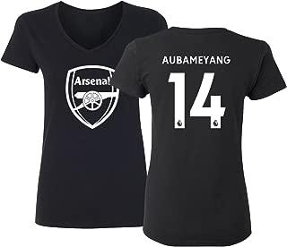 Tcamp Arsenal Shirt Pierre Emerick Aubameyang #14 Women's V-Neck Tshirt