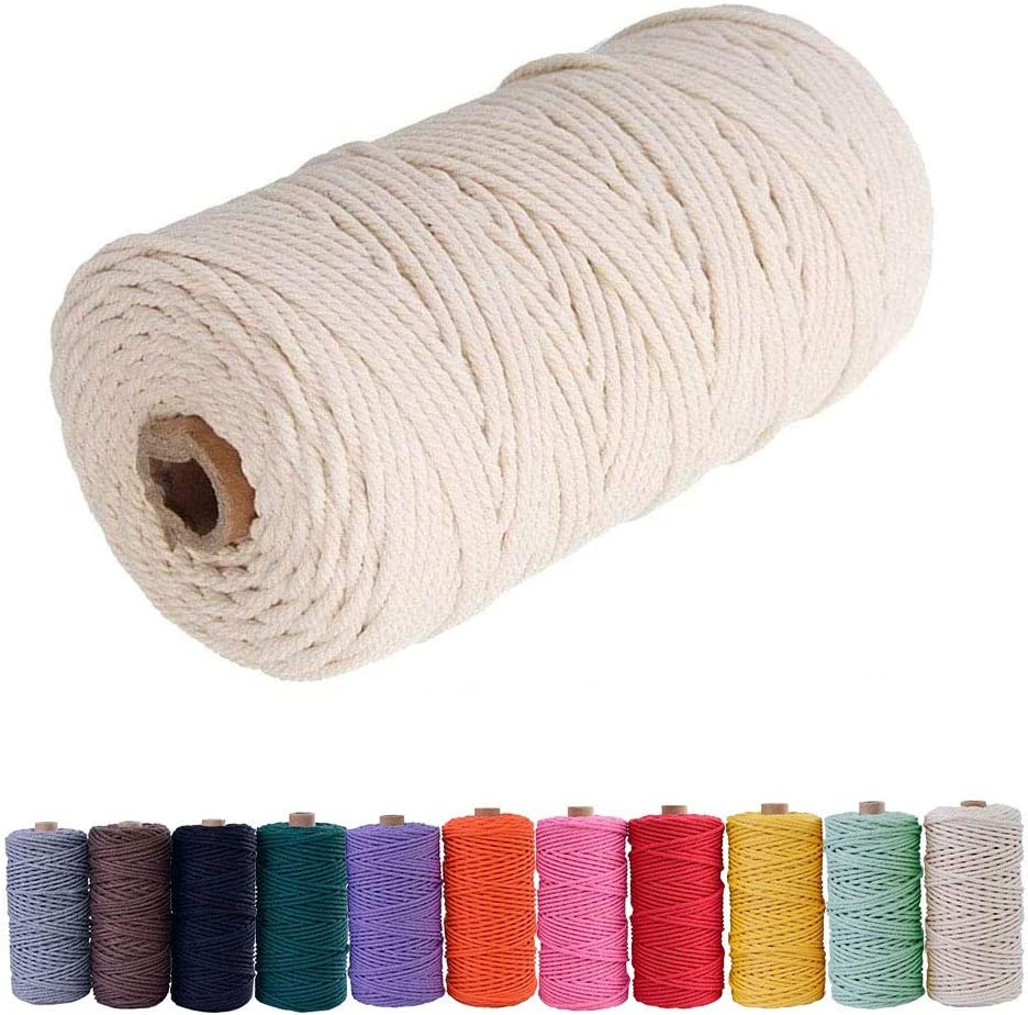 Super sale Bytron Macrame Cord Max 48% OFF 3mm Twine Cotton Beige Rope