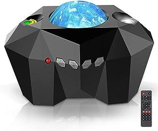 PIIKNUO LED Sternenhimmel Projektor Lampe Nachtlicht Aurora - mit 55 Arten Lichteffekte und Bluetooth-Lautsprecher für Bab...