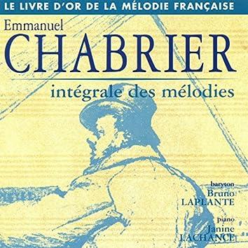 Chabrier: Intégrale des mélodies