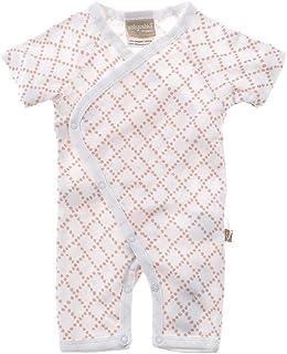 Babyushka Organic Shibori Collection Short Sleeve Kimono Romper, 0