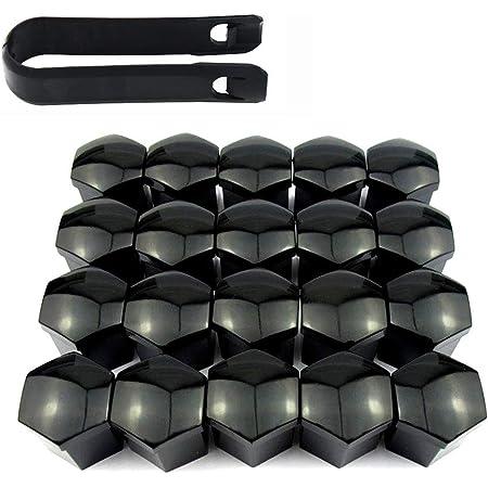 Bememo 20 Stücke Rad Mutter Cap Universal Reifen Mutter Covers Mit Entfernung Werkzeug Für Autos Schwarz 19 Mm Auto