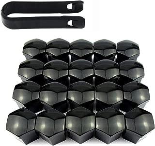 con Strumento di rimozione Colore Nero Uteruik universali 16 copribulloni esagonali da 17 mm con 4 Pezzi di bloccaggio