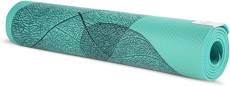 TLTLYJD Yoga Mat NBR Fitness Yoga Mat, Rebound, Non-Slip, Tear Resistant, Durable, 183x61 cm - Yoga, Sit-ups, Family Yoga.