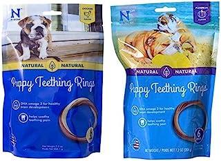 N-Bone Puppy Teething Rings Variety Pack - (6 Pack) Pumpkin Flavor and (6 Pack) Chicken Flavor