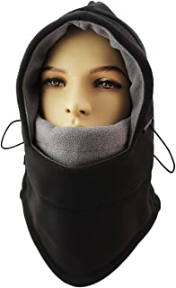 Lightweight Balaclava Windproof Ski Face Mask for Men, Women, Soft Warm Fleece Ear-Flap Winter Hat/Hood for Outdoor Sports