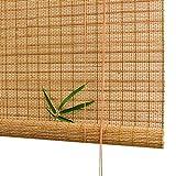 ASDWS Tenda a Rullo Bamboo, finestre avvolgibili, Tende avvolgibili in bambù Schermo per la Privacy per patii Esterni Tendine Parasole avvolgibili per finestre,51X59in/130X150cm