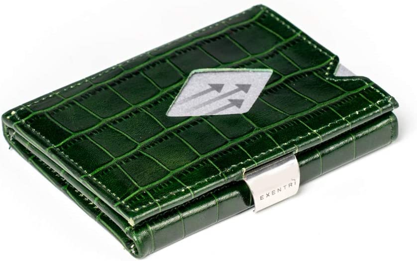 EXENTRI WALLETS in Caiman w/RFID (Green)